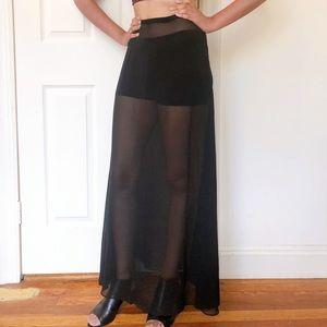 Dresses & Skirts - Cheap Monday black mesh maxi skirt S SK